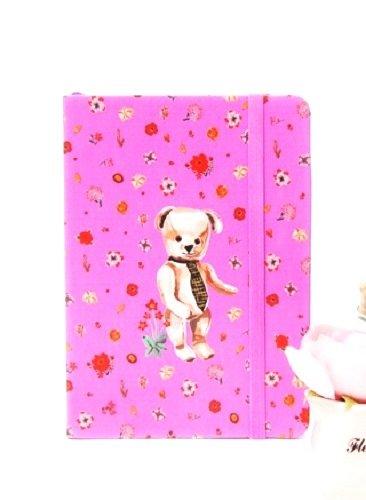 Nathalie Lete Handbound Grid Note (Hardcover) - Teddy Bear