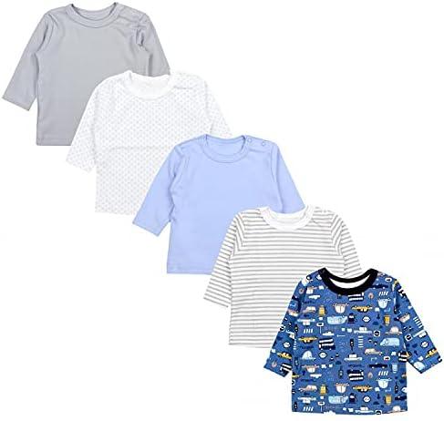 TupTam Baby Jongens Shirt met Lange Mouwen 5pack