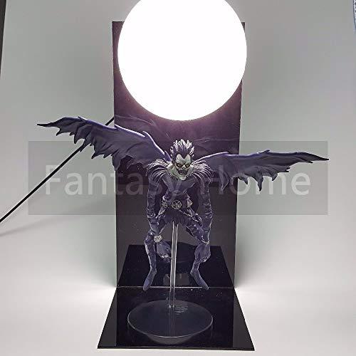 Death Note LED Light Figure - Death Note Action Figure Ryuuku PVC Figure Ryuuku DIY Display with Moon Model Toy Anime