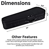 ADM® 4/4 Full Size Basic Professional Triangular Shape Super Light Suspension Violin Case