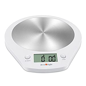 AccuWeight Digital Kitchen Scale Multifunction Food Scale Precise Cooking Scale, 11 lbs/5 kg, Easy To Use, Auto Off, Tare, Battery Included