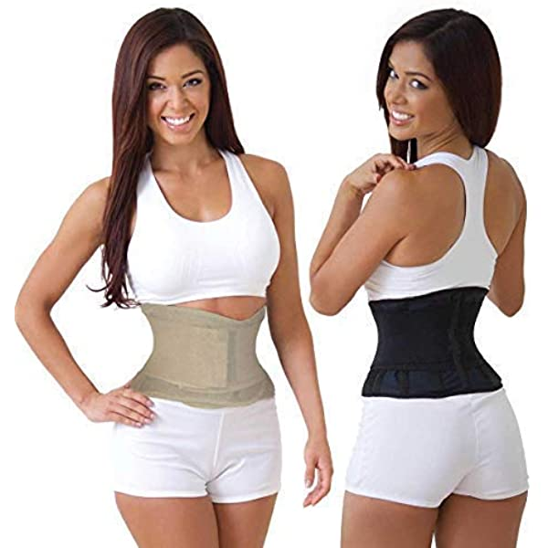 NIB MISS BELT Waist Trainer Cincher Belly Shaper Look Slimmer Black S//M