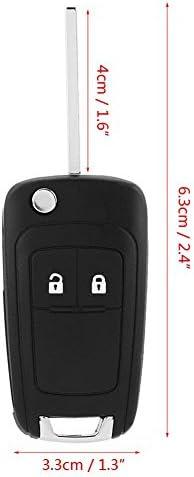 2 Tasten Auto Schlüsselanhänger Remote Faltbare Flip Control Autoschlüssel Fernbedienung Schlüssel Fall Mit 433 Mhz Id46 Chip Für J Corsa E Insignia 5wk50079 Auto