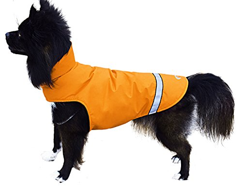 Wanpal Dog Raincoat with Warm Fleece Lining Cold Weather Dog Coat Water Resistant Lightweight Rip-stop by Wanpal
