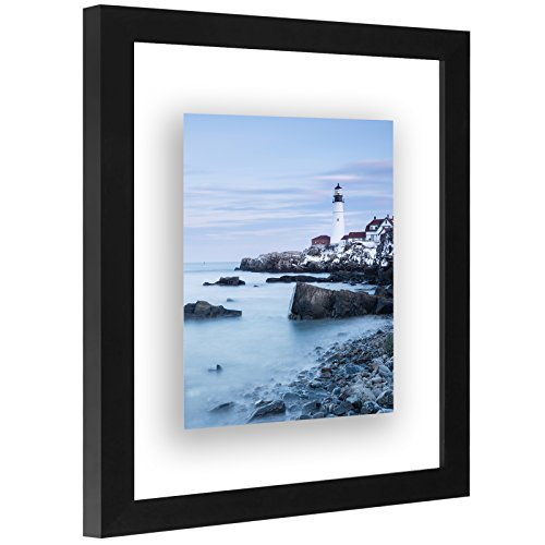 Americanflat 8x10 Floating Frame - Modern Picture Frame Designed to Display a Floating Photograph, ()