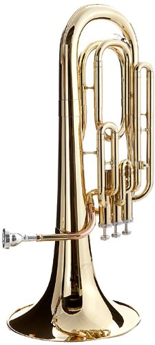 B004POB4B6 Hawk WD-BT511 Lacquer Baritone Horn with Case and Mouthpiece, Brass 41ydiroECHL