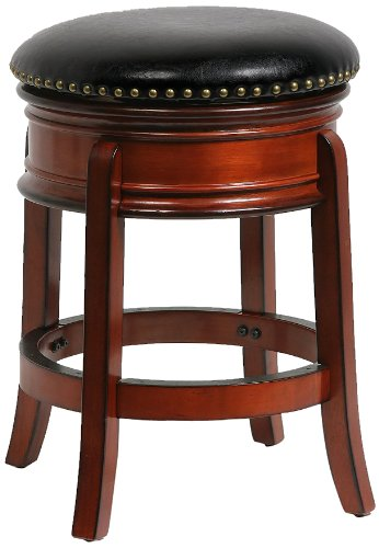 Boraam 43224 Hamilton Counter Height Swivel Stool, 24-Inch, Brandy Birch Dining Room Pedestal
