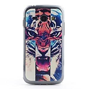 JJETiger Head Pattern PVC Back Case for Samsung Galaxy Ace 3 S7272