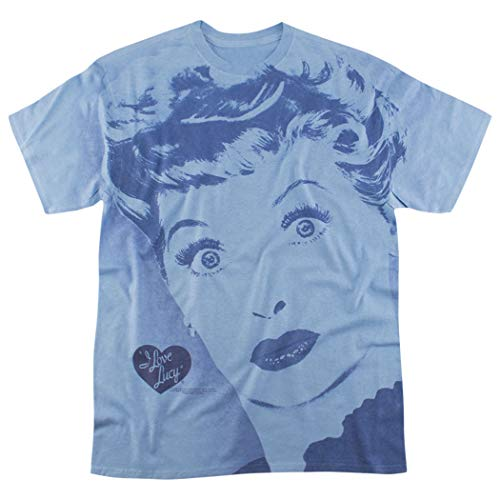 - I Love Lucy TV Show All Over Heather T Shirt (X-Large) Blue