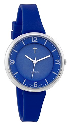 Belief Women's | Sporty Royal Blue Face Royal Blue Silicon Band Watch with Cross Logo| BF9659BLR