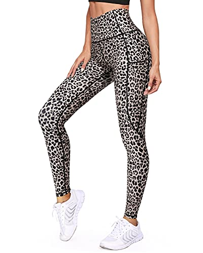 WALK FIELD Yoga Pants for Women High Waist Capri Workout Leggings with Pockets Running Tight