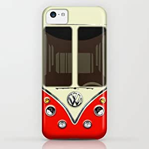 Society6 - Sale For Charity! Red Vw Volkswagen Mini Van Bus K¡ iPhone & iPod Case by Three Second BY supermalls