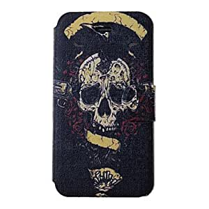 DD Cool Skulls Pattern PU Full Body Case with Card Slot for iPhone 4/4S