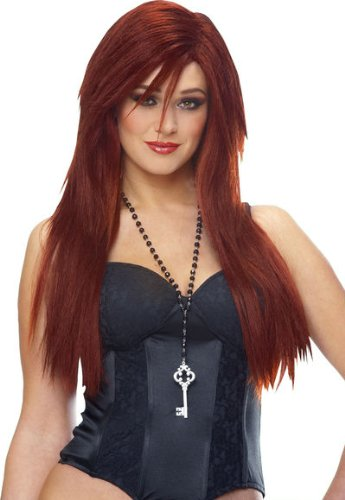 Franco Sleek Red Deluxe Wig