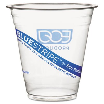 BlueStripe Recycled Content Clear Plastic Cold Drink Cups 9 oz Clear 50/Pack 10 Packs