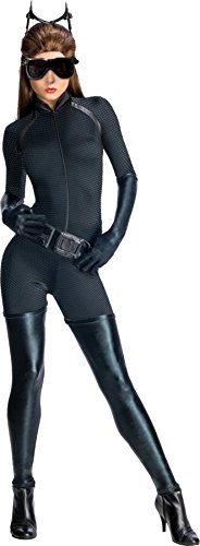 Plus Size Catwoman Costumes (UHC Women's Dark Knight Rises Secret Wishes Catwoman Halloween Themed Costume, Large (12-14))