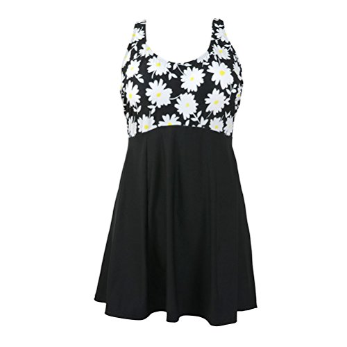 7086cf569b81a Happybai Women's One Piece Swimdress Plus Size Swimwear Vintage Tankini  Swimsuit