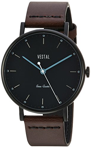 Vestal 'Sophisticate' Swiss Quartz Stainless Steel and Leather Dress Watch, Color:Brown (Model: SPH3L07) - 41ydl2NEsgL - Vestal 'Sophisticate' Swiss Quartz Stainless Steel and Leather Dress Watch, Color:Brown (Model: SPH3L07)