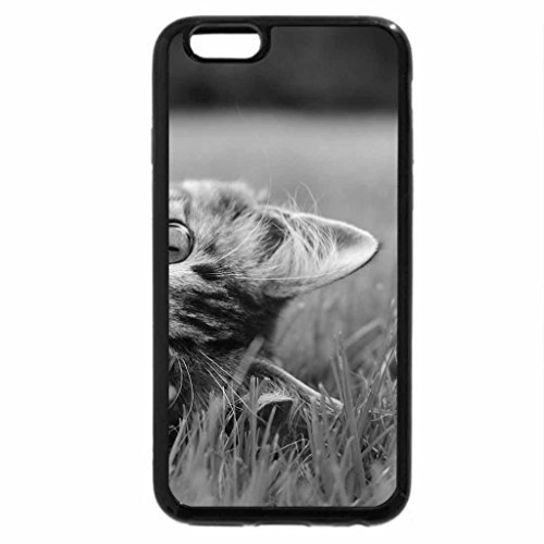 iPhone 6S Case, iPhone 6 Case (Black & White) - Cat