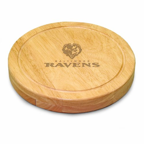 NFL Baltimore Ravens Circo Cheese Board/Tool Set, 10-Inch