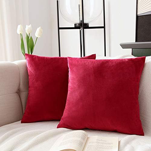 JLCROTENGRA 2 Pack Decorative Throw Pillow Covers No Inserts 18x18 20x20