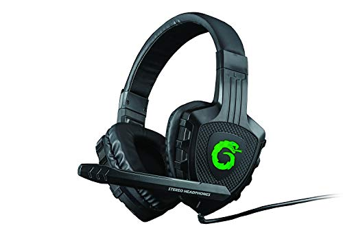 Headphones PC Gaming Stereo World of Warcraft Fortnite Diablo League of Legends Laptop Mac Headset w/Mic LED Lights 6.5ft Cord Padded Headband Earcups Video Games (Viper-X Gaming Headset) (Best Computer For League Of Legends)