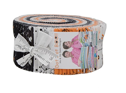 Dot Dot Boo Jelly Roll 40 2.5-inch Strips