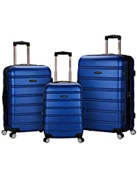 Melbourne 3 Pc Abs Luggage Set, Blue