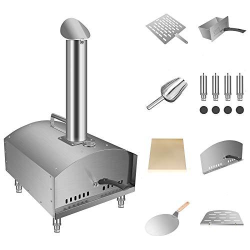 TOPQSC Pizza Oven met schoorsteen outdoor pizza ovens met schoorsteen Pizza Kit Pizza Oven Kit pizza steen, pizza steen…