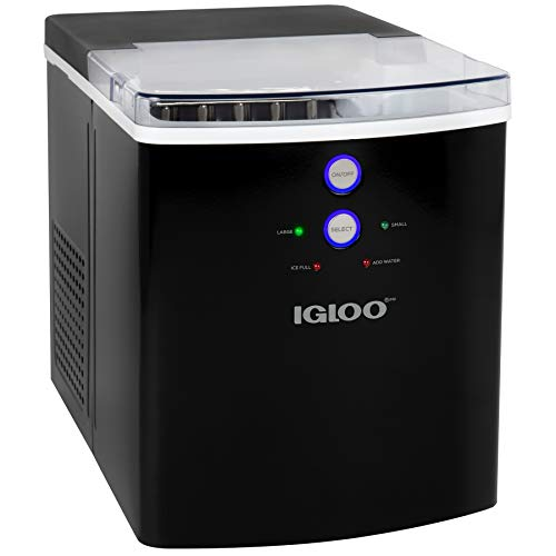 Igloo ICEB33BK 33-Pound Automatic Portable Countertop Ice Maker Machine, Black