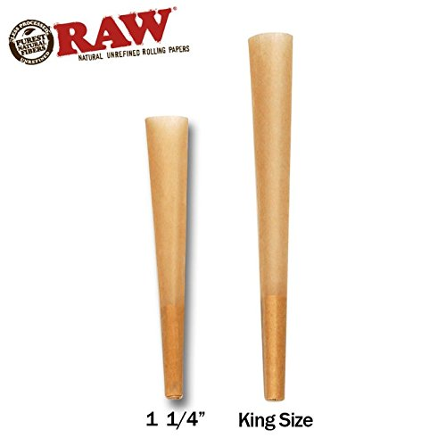 Raw Classic King Size Pre Rolled Cone 1400 Count - Includes a TSC Sticker by Raw (Image #2)