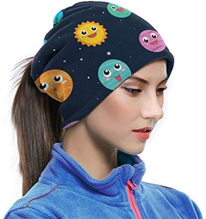 Cartoon Planets In Space ネックカバー 男女兼用 バンダナ フリーサイズ フェイスガード 多機能 スポーツ ターバン