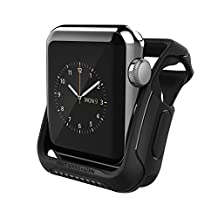 Apple Watch Series 2 Case 42mm, Caseology [Vault Series] Rugged Protective Slim Shock Resistant TPU Bumper for Apple Watch Series 2 42mm (2016) Only - Matte Black