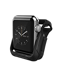 Apple Watch Series 2 Case 42mm, Caseology [Vault Series] Rugged Protective Slim Shock Resistant TPU Bumper [Matte Black] for Apple Watch Series 2 (2016) - Apple watch series 2 42mm Only