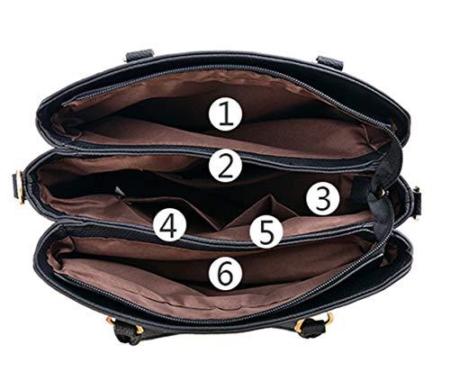 Women Classic Weekender Tote Medium-Size Satchel Style Handbag by Traum Starter (Image #4)