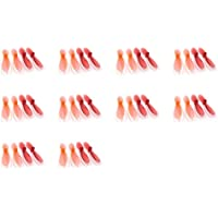 10 x Quantity of Hubsan X4 H107L Transparent Clear Orange and Red Propeller Blades Props Rotor Set 55mm Factory Units