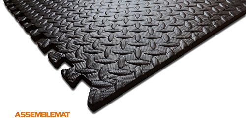 Enclavamiento colchonetas de gimnasia para la Yoga-ejercicio-garaje - protección de sala-anti piso fatiga-EVA espuma-caucho mejor negro complicada visita ...