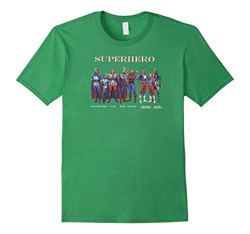 Mens T-shirt Classic Superhero Green Mask & Domino US Jones Bolt 2XL (Green Domino Mask)