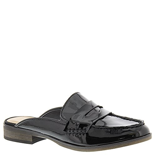Franco Sarto Women's L-Brently Slip-On Loafer, Black Patent, 8 M US (Franco Sarto Patent Leather Shoes)