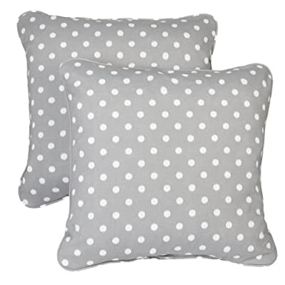Mozaic Company Indoor/ Outdoor 20-inch Corded Pillow, Grey Dots, Set of 2 - Color: Grey Dots Materials: Polyester fabric, filled with 100% recycled polyester fiber Weather, mildew, fade and stain resistant with UV protection - patio, outdoor-throw-pillows, outdoor-decor - 41ydnWxVk1L. SS400  -