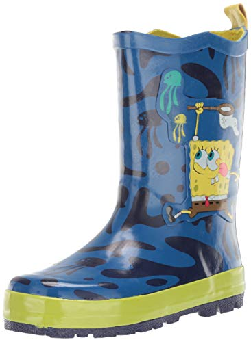 Kidorable Boys' Spongebob Rain Boots, Blue, 6 M US Toddler ()