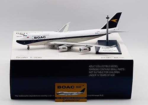 Inflight BRITISH AIRWAYS BOAC 1919-2019 BOEING 747 G-BYGC 1//200 diecast plane model aircraft