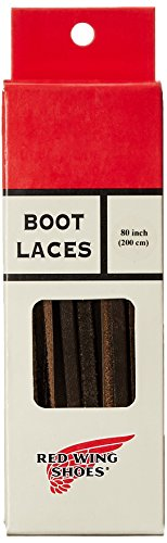 Red Wing Heritage Leather Shoe Lace, Dark Coffee,80 Inch (Leather Red Brown)