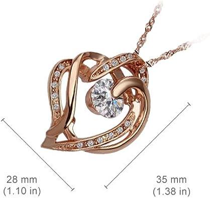 Aile de Papillon Orn/ée de 39 Strass Transparents sertis en Pav/é Plaqu/é en Or Blanc 18K UPCO Jewellery Femme Collier /à Pendentif /à la Mode 21mm x 30mm