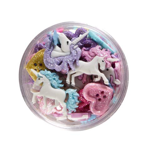 Jesse James Company Dress it Up Embellishments Buttons Mythical Unicorns Multi