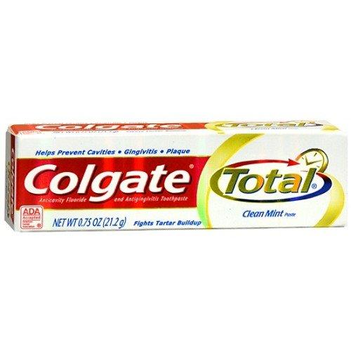 - Colgate Total Colgate Total 12 Hour Multi-Protection Toothpaste, Travel Size, Original 0.75 oz (Quantity of 9)