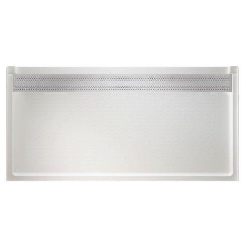 White Barrier Free Barrier (Swanstone FBF-3464-010 Barrier Free 34-Inch x 64-Inch Trough Drain Single Threshold Shower Floor, White)