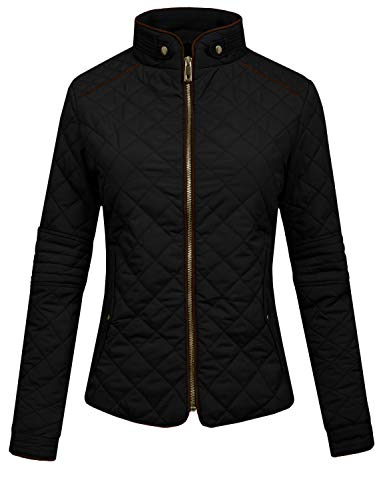 (J. LOVNY Womens Lightweight Quilted Warm Zip Jacket/Vest with Pocket Details)