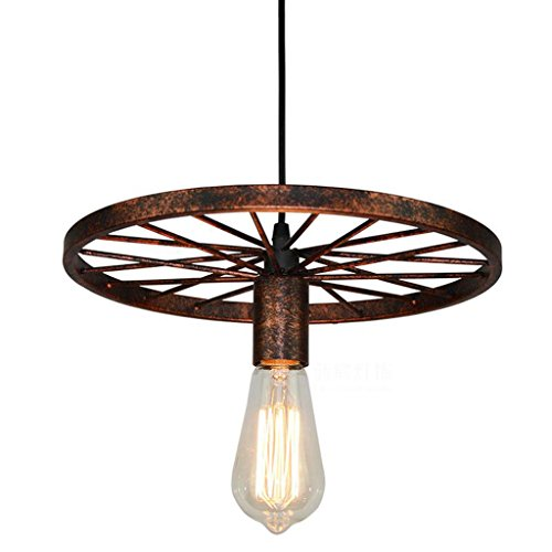XHJJDJ Wagon Wheel Chandelier Vintage Industrial Metal for sale  Delivered anywhere in USA