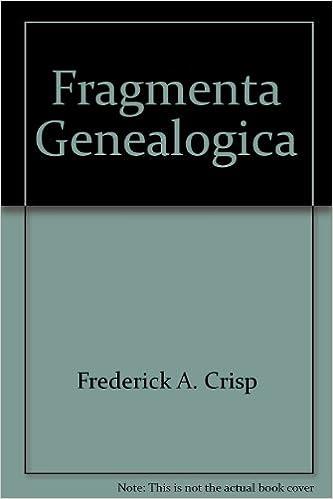 Book Fragmenta Genealogica